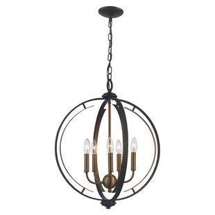 Best Terrell 5-Light Globe Chandelier By Charlton Home