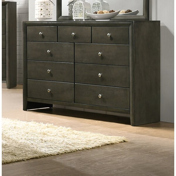 Kelliher 9 Drawer Double Dresser by Ivy Bronx