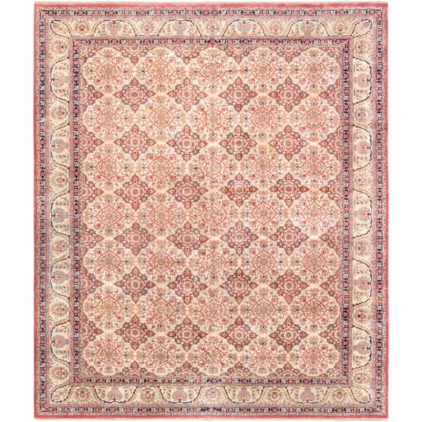 Lavar Hand-Knotted Wool Beige/Ivory Area Rug by Pasargad