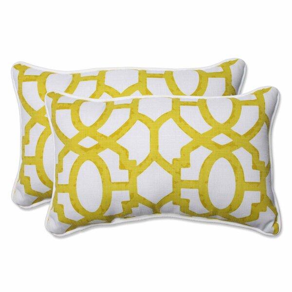 Chewning Indoor / Outdoor Geometric Lumbar Pillow (Set of 2)