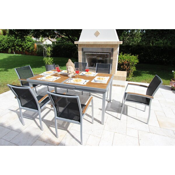 Galliano 7 Piece Teak Dining Set by Bellini Home and Garden