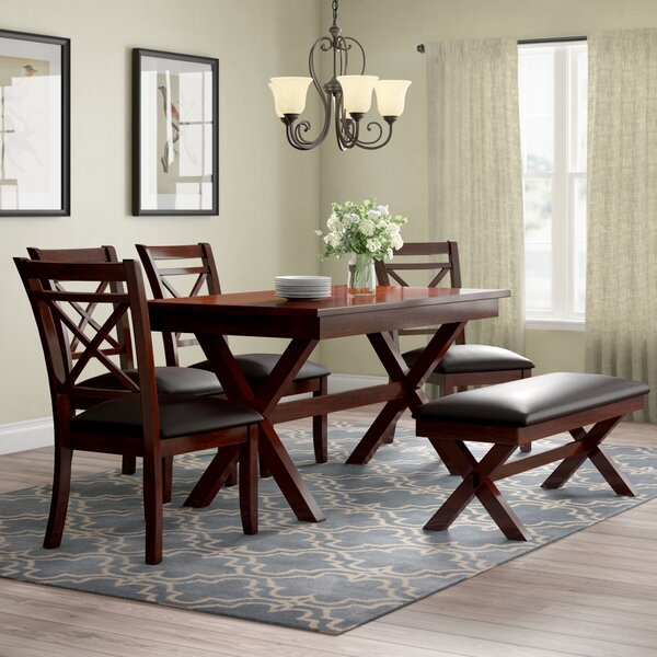 Bexley 6 Piece Solid Wood Dining Set by Alcott Hill Alcott Hill