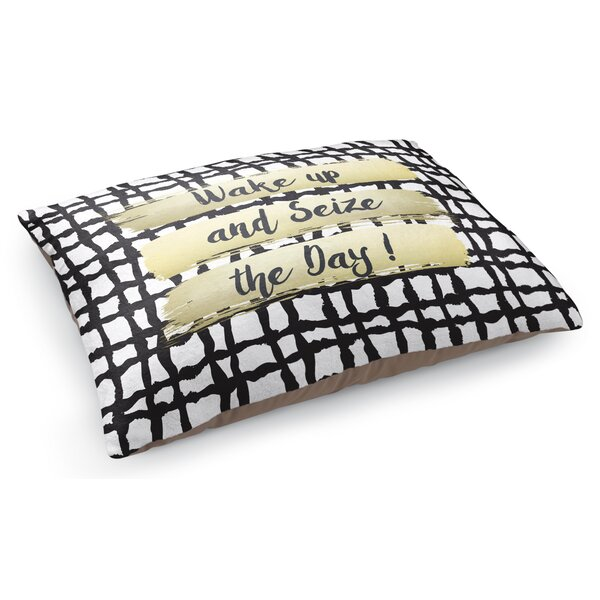 Wake Up and Seize the Day Pet Pillow by KAVKA DESIGNS