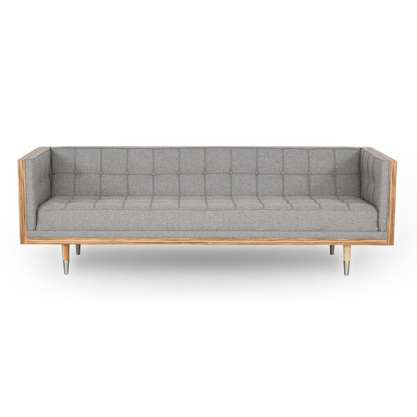 Charli Mid-Century Box Chesterfield Sofa by Brayden Studio