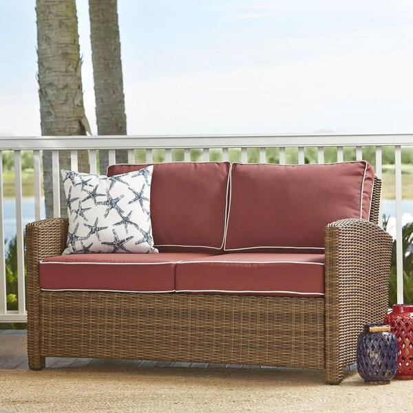 Lawson Wicker Loveseat with Cushions by Birch Lane Heritage Birch Lane™ Heritage