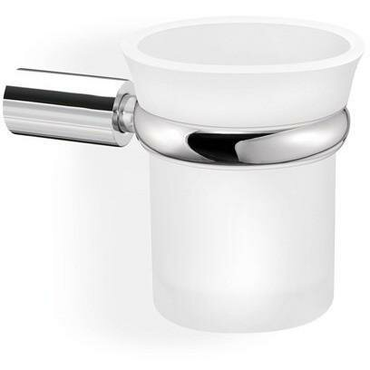 Sokol Wall Frosted Glass Toothbrush & Tumbler Holder by Orren Ellis