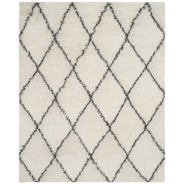 Lohan Knotted Cotton Ivory Area Rug by Brayden Studio