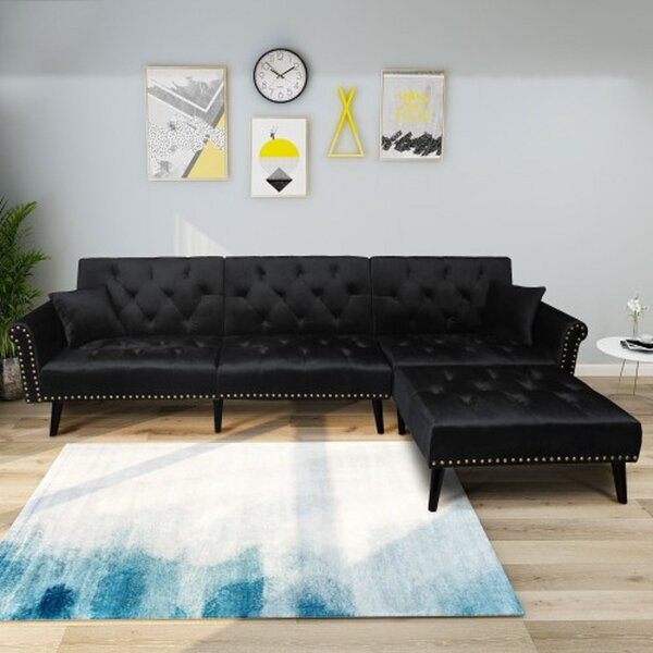 Kerry Right Hand Facing Functional Sleeper Sectional by House of Hampton