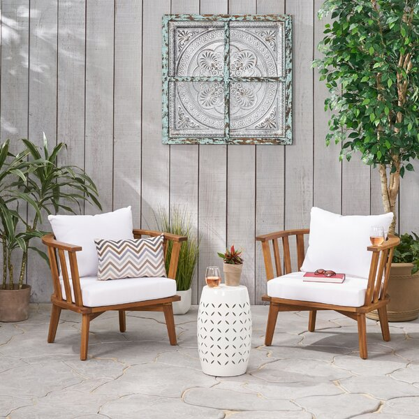 Reichel Outdoor 3 Piece Seating Group with Cushions by Highland Dunes Highland Dunes