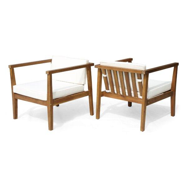 Wrens Teak Patio Chair (Set of 2) by Ivy Bronx