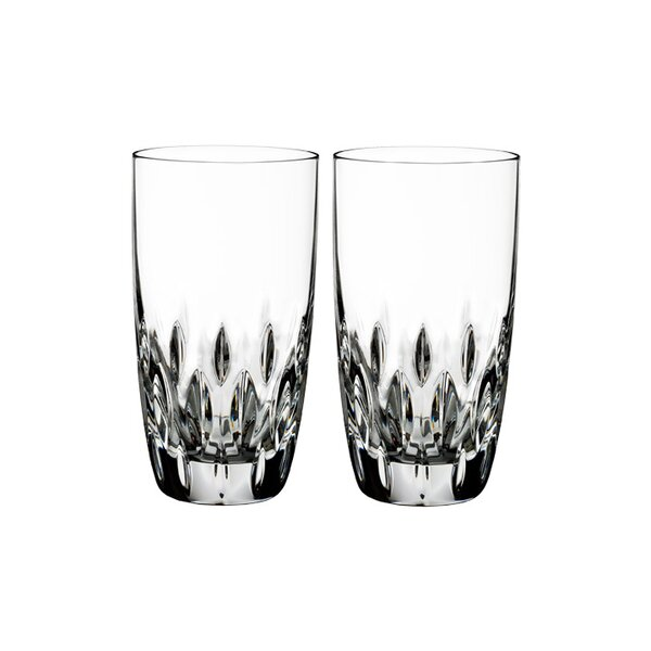 Enis 12 oz. Crystal Highball Glasses (Set of 2) by Waterford