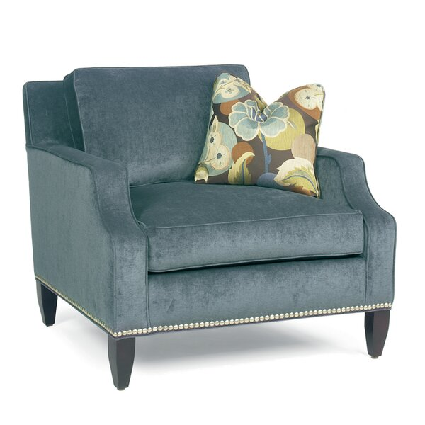 Modern Notch Arm Loose Pillow Back Armchair by Classic Comfort