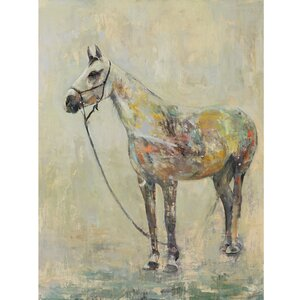 Horse of a Different Color by Leila Painting Print on Wrapped Canvas by Portfolio Canvas Decor