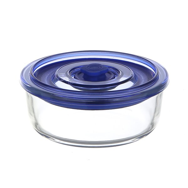 Go Green Glasslock Elements Premier Round Oven Safe 29 Oz. Food Storage Container by Kinetic