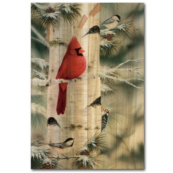 Feathered Friends 1 by Mark Daehlin Painting Print Plaque by WGI-GALLERY