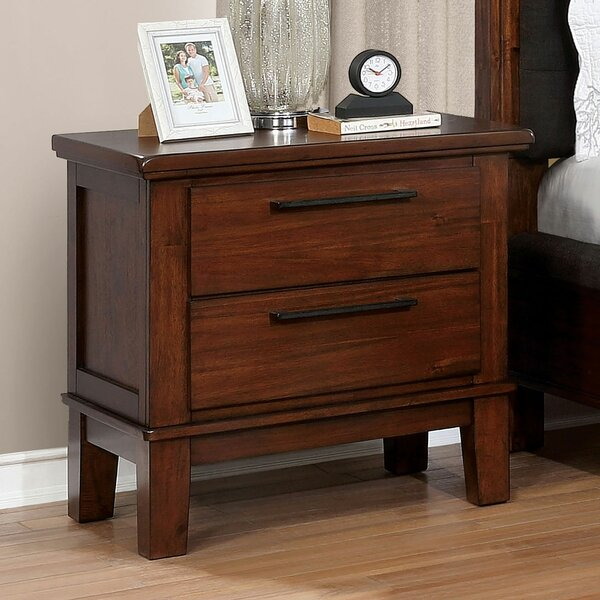 Crissyfield 2 Drawer Nightstand by Union Rustic