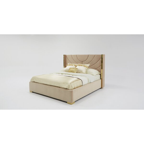 Sam Modern King Upholstered Platform Bed by Everly Quinn