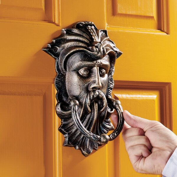 Sutherland House Greenman Authentic Foundry Door Knocker by Design Toscano