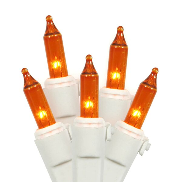 Mini Christmas 100 Light Orange/White String Light by The Holiday Aisle