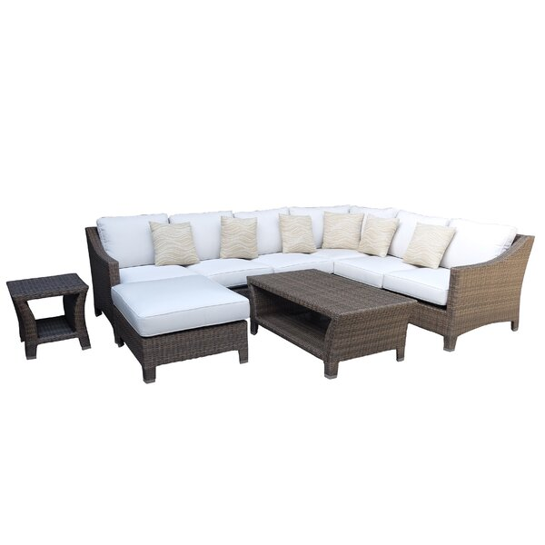 Galen 9 Piece Sectional Set with Cushions by Bayou Breeze Bayou Breeze