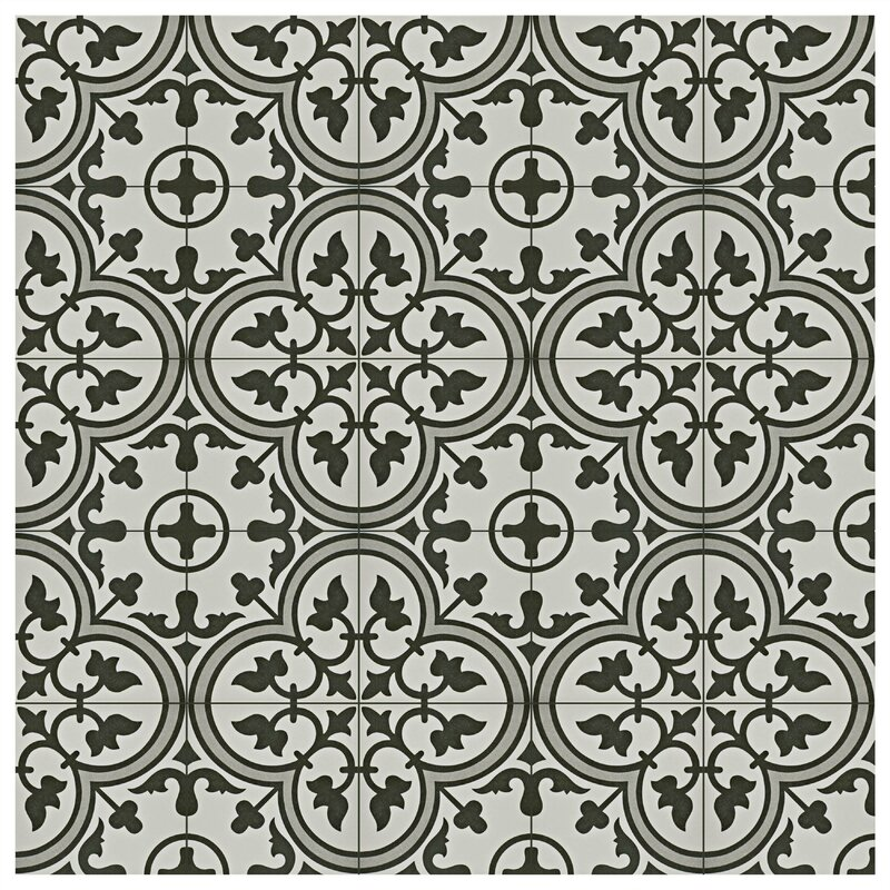 Elitetile Artea 9 75 Quot X 9 75 Quot Porcelain Field Tile In Dark
