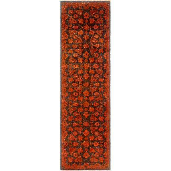 Buford Hand-Knotted Wool Red Area Rug by Bloomsbury Market