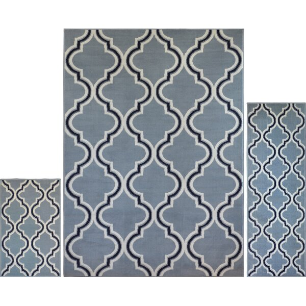 Gallaher Silver Area Rug by Charlton Home
