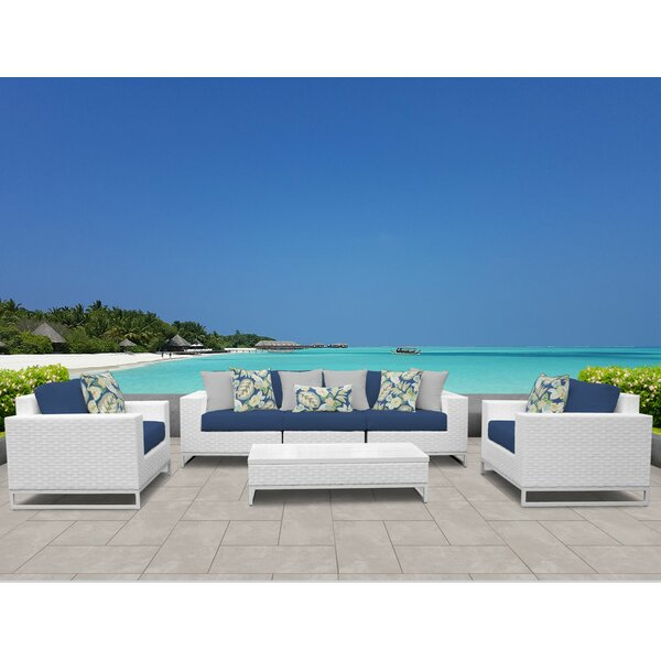 Miami 6 Piece Sofa Set with Cushions by TK Classics