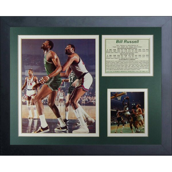 Bill Russell Framed Photographic Print by Legends Never Die