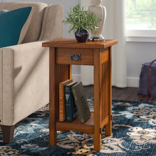 Oakcrest End Table With Storage Charlton Home