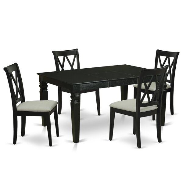 Gosling 5 Piece Extendable Solid Wood Dining Set by Winston Porter Winston Porter