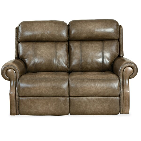 Brooks Leather Reclining Loveseat By Hooker Furniture