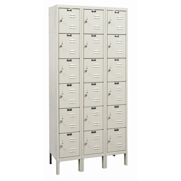 Galvanite 6 Tier 3 Wide Employee Locker by HallowellGalvanite 6 Tier 3 Wide Employee Locker by Hallowell