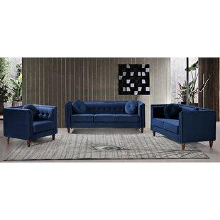 Evenson 3 Piece Standard Living Room Set by House of Hampton®