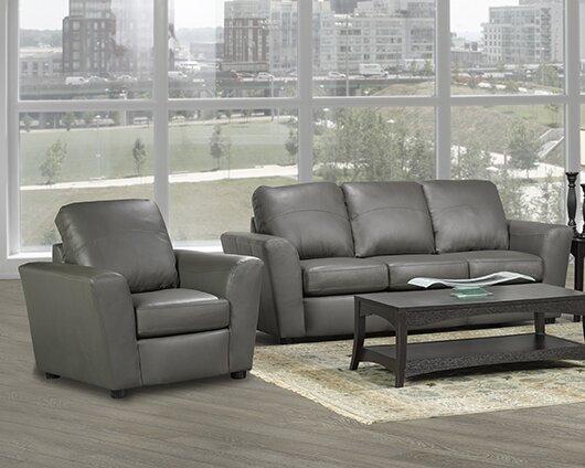 Lidiya 2 Piece Leather Living Room Set by Red Barrel Studio Red Barrel Studio