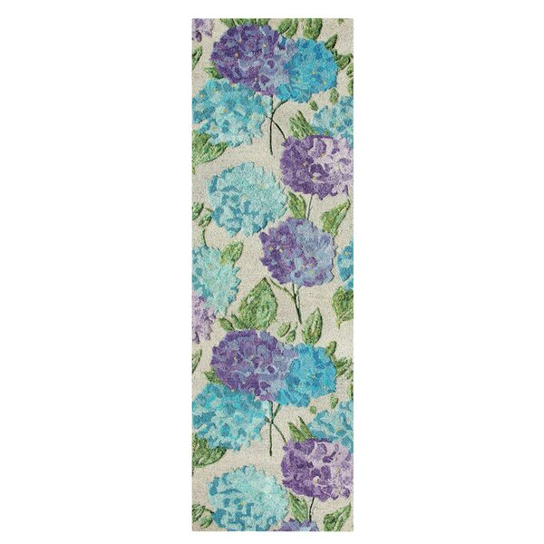 Hydrangea Hand Tufted Green/Blue Area Rug by CompanyC