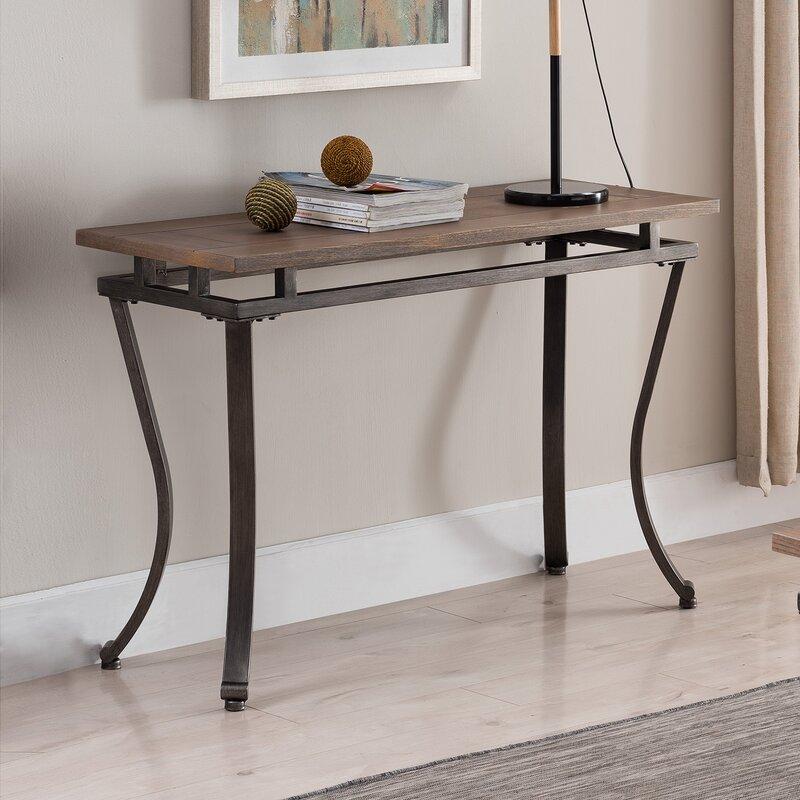 d58e7c735997f9 Ivy Bronx Fannin Rectangular Console Table & Reviews | Wayfair