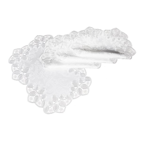 Christofer Lace Embroidered Cutwork Placemat (Set of 4) by One Allium Way