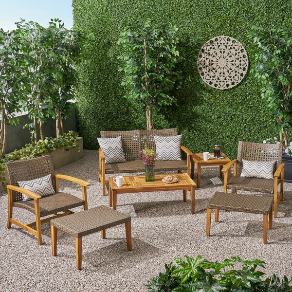 Spann 7 Piece Sofa Seating Group by Bayou Breeze