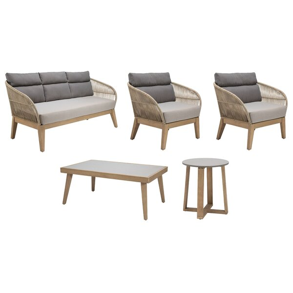 Fuego 5 Piece Sofa Seating Group with Cushions by Seasonal Living