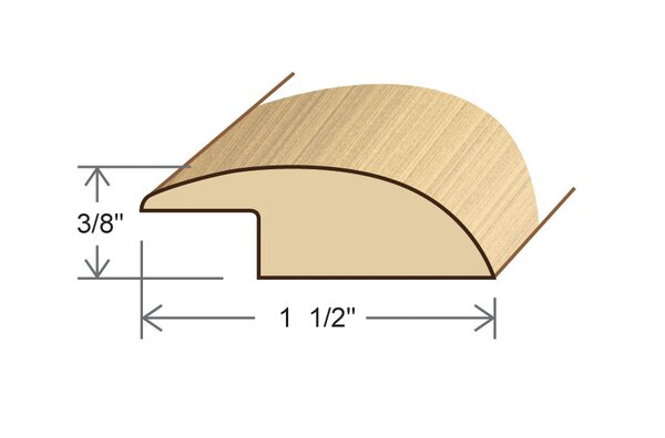 0.34 x 1.5 x 78 Maple Overlap Reducer by Moldings Online