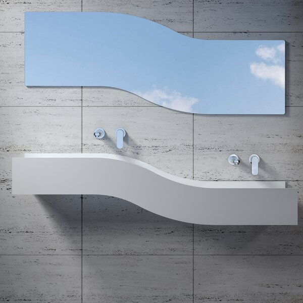 Right Wave Stone 55 Wall Mount Bathroom Sink by InFurniture