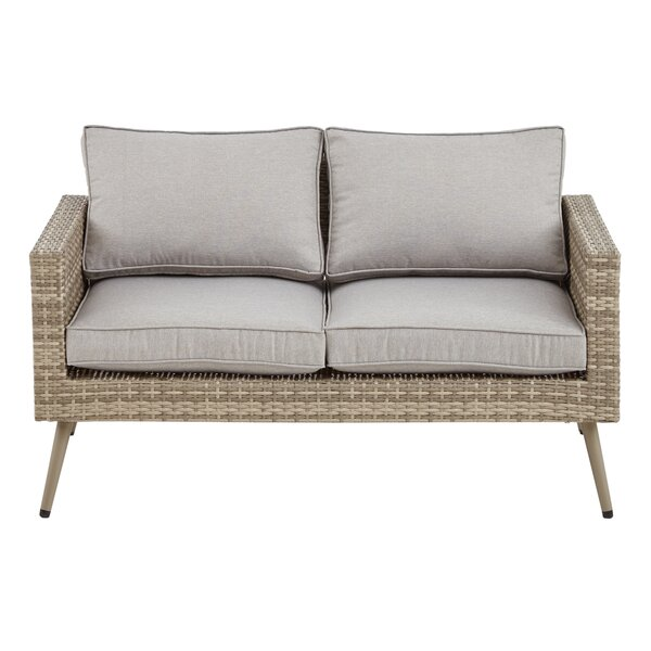 Pantano Loveseat With Cushions By Bungalow Rose