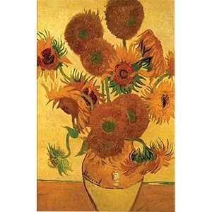 'Vase with Fifteen Sunflowers' by Vincent Van Gogh Painting Print on Canvas by Alcott Hill