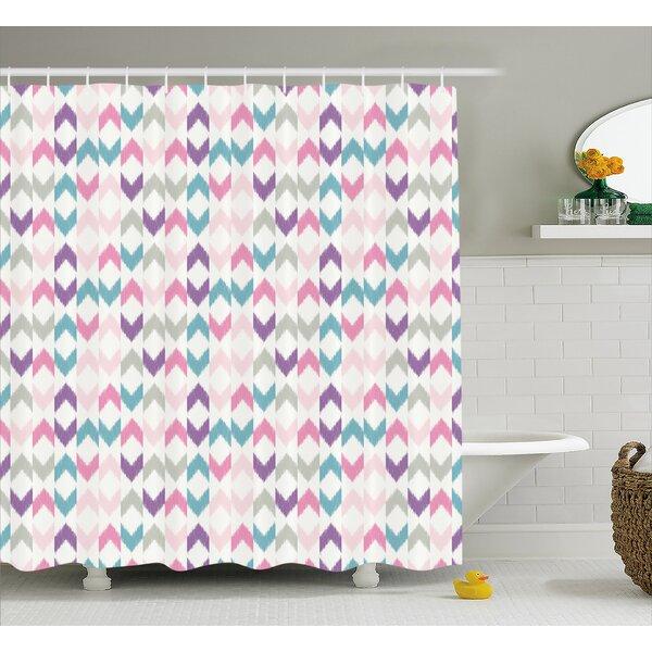 Adonis Eastern Chevron Boho Shower Curtain by Harriet Bee
