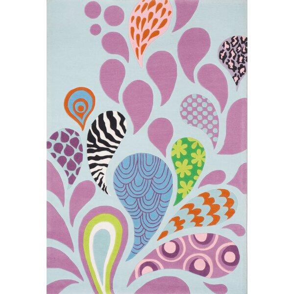 Fabio Handmade Tufted Blue/Pink Rug