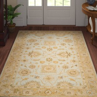 Ashville Hand-Tufted Light Bue / Beige Area Rug By Three Posts