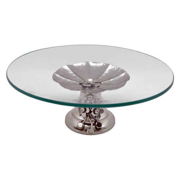 Round Base Serving Platter by Three Star Im/Ex Inc.