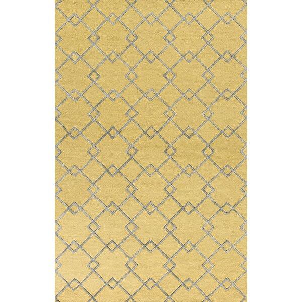 Frankie Hand-Tufted Gold/Gray Area Rug by Brayden Studio