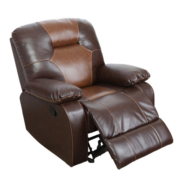Maltare Faux Leather Manual Rocker Recliner W003379199